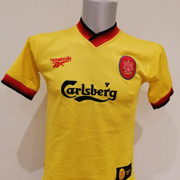 Vintage Liverpool 1997 1998 1999 away shirt Reebok Soccer jersey Youths 3234 (1)