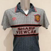 Vintage Manchester United 1995 1996 away football shirt Umbro size Y Youths 176 (1)