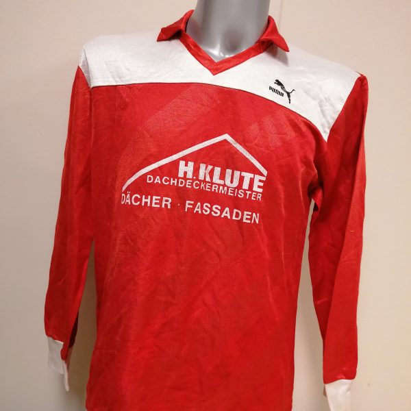 Vintage Puma 1980ies red german amateur football shirt #10 size XL (1)