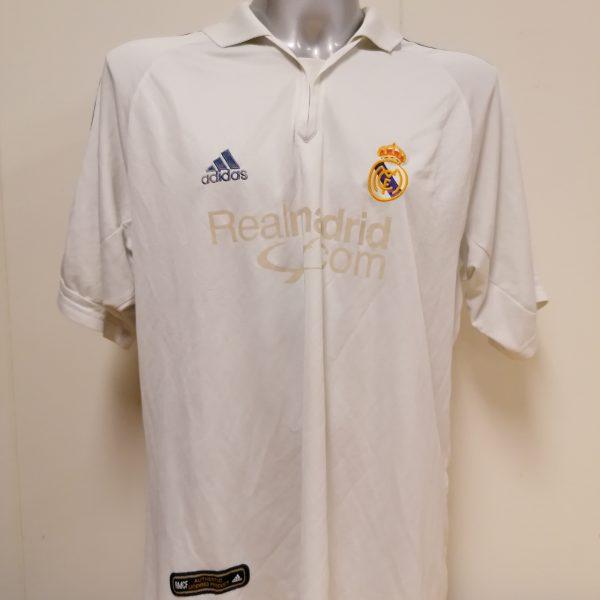 Vintage Real Madrid 2001 home shirt adidas football top size XL (1)