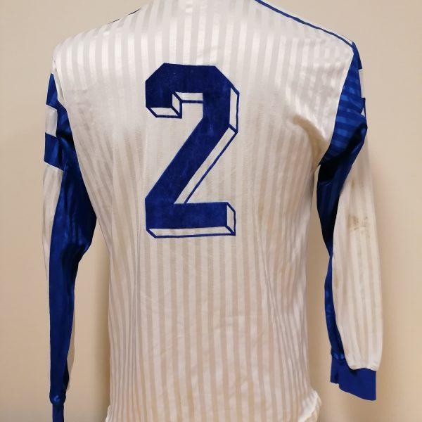 Vintage adidas 1970ies 1980ies blue football shirt #2 size M (1)