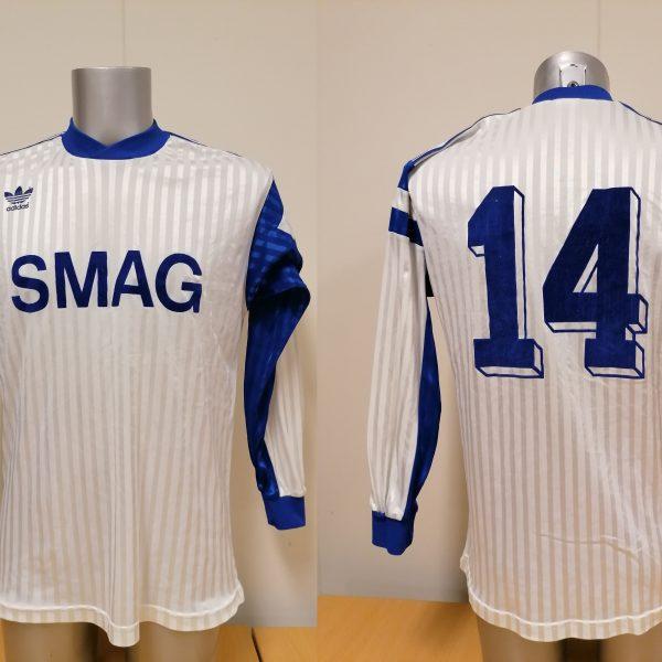 Vintage adidas 1970ies 1980ies blue football shirt #2 size M (14)