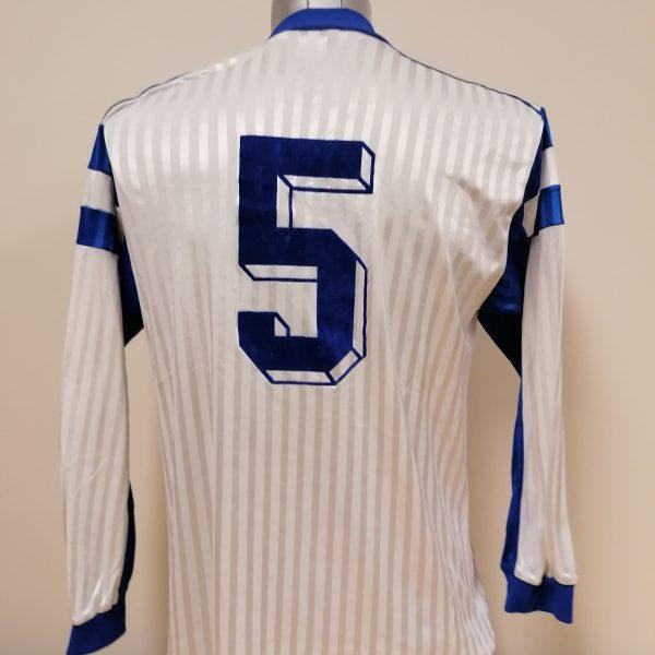 Vintage adidas 1970ies 1980ies blue football shirt #2 size M (2)