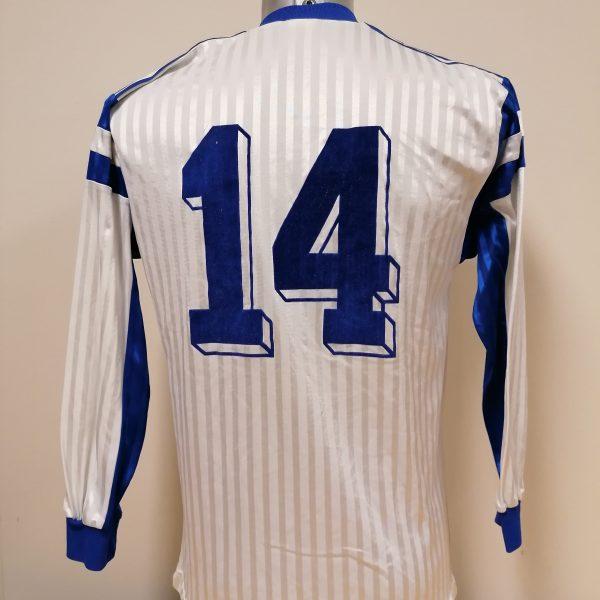Vintage adidas 1970ies 1980ies blue football shirt #2 size M (5)