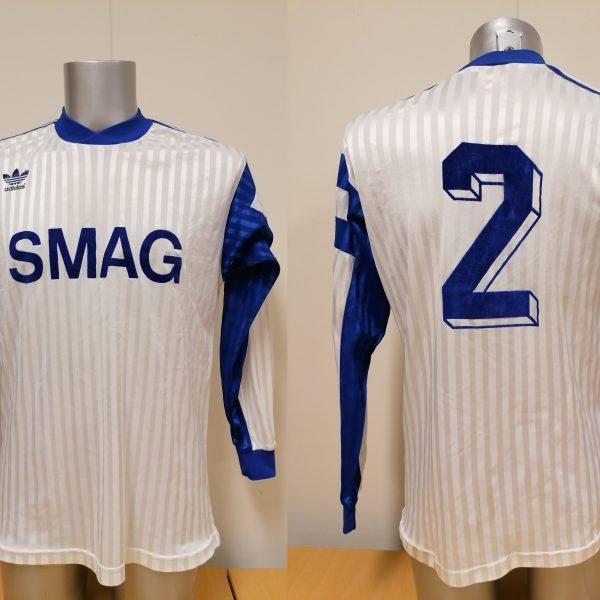 Vintage adidas 1970ies 1980ies blue football shirt #2 size M