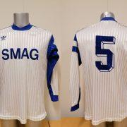 Vintage adidas 1970ies 1980ies blue football shirt #2 size M (X)