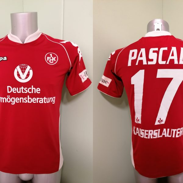 1FCK Kaiserslautern 2008 2009 home shirt Kappa football jersey #17 Pascal size S