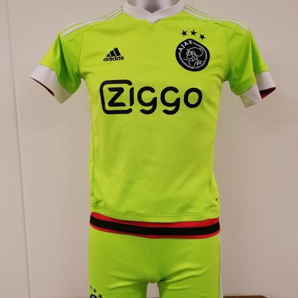 Ajax 2015 2016 away kit shorts shirt adidas size Boys L 152cm 11-12Y (1)