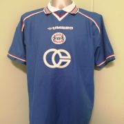Dinamo Zagreb Croatia 1999 2000 home shirt umbro football top size XL (1)
