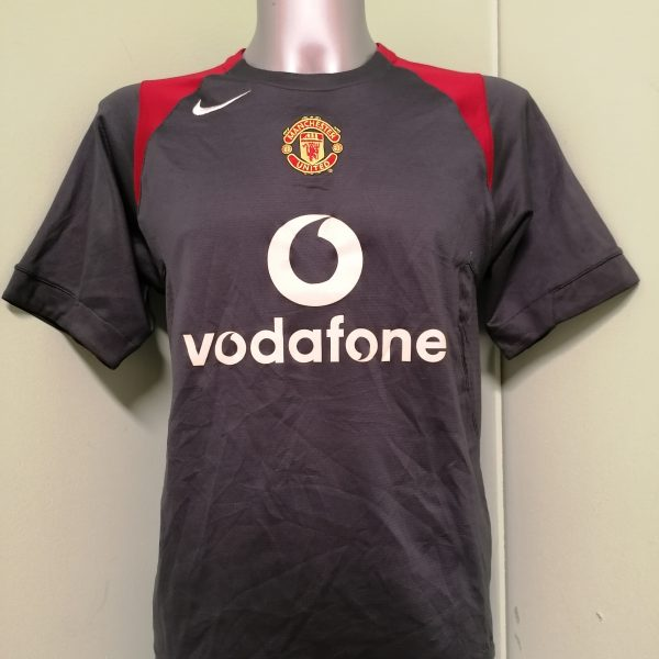 Manchester United 2004 2005 grey training shirt Nike jersey size S (1)
