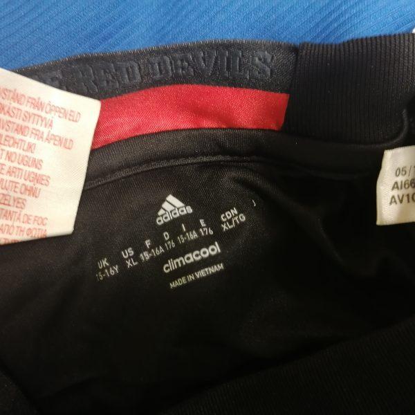 Manchester United 2016 2017 goal keeper shirt adidas ls size Boys XL 176 15-16Y (1)