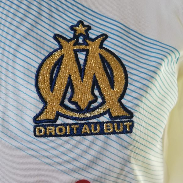 Player issue Techfit Olympique Marseille 2011 2012 home shirt adidas size M 8 (3)