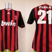 Vintage AC Milan 2009 2010 home shirt adidas Pirlo 21 size L