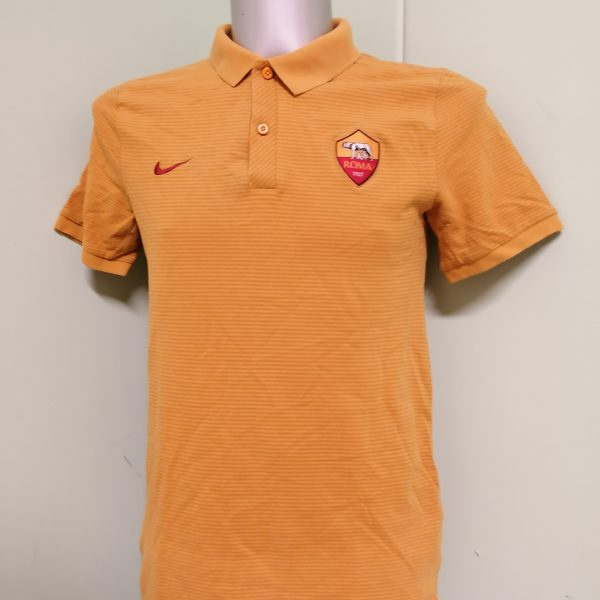 Vintage AS Roma beige polo shirt Nike football jersey size M (1)