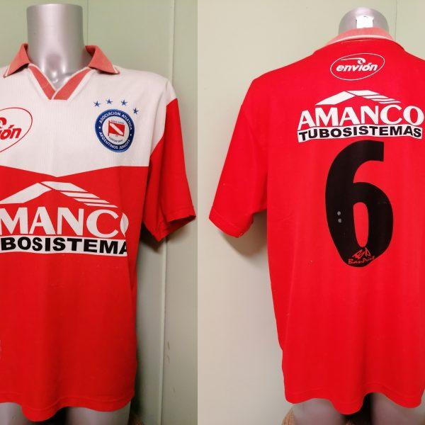 Vintage Argentinos Juniors 2001 2002 home shirt envion jersey #6 size L