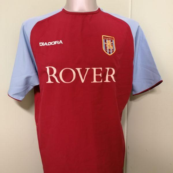 Vintage Aston Villa 2003 2004 home shirt Diadora football top size M (1)