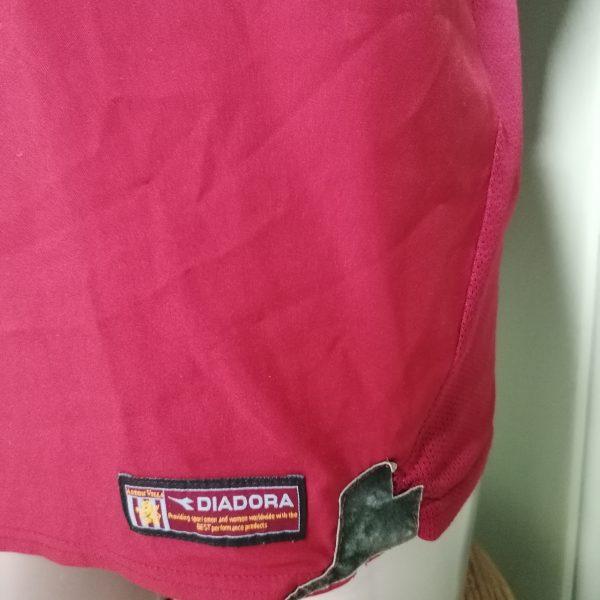 Vintage Aston Villa 2003 2004 home shirt Diadora football top size M (2)