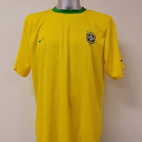Vintage Brazil 2000 2001 2002 basic home shirt NIKE Brasil size XL (1)