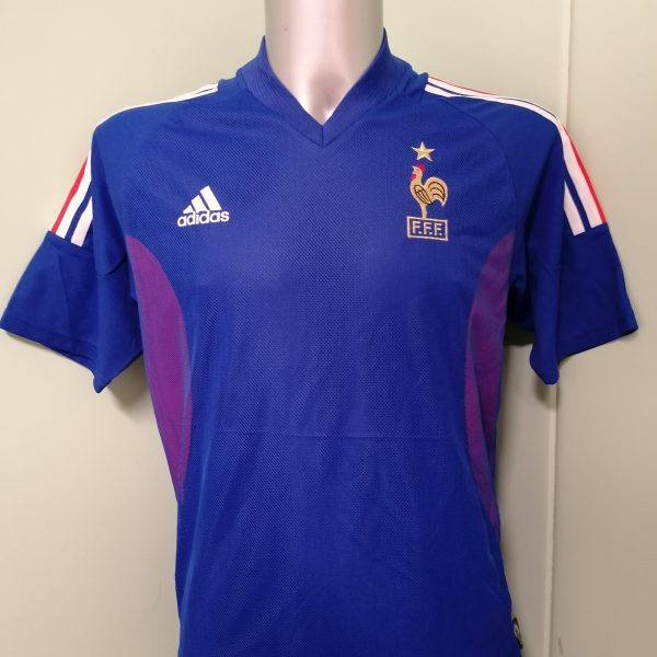 Vintage France World Cup 2002 2003 2004 home shirt adidas football top size S (1)