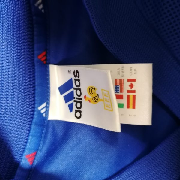 Vintage France World Cup 2002 2003 2004 home shirt adidas football top size S (3)