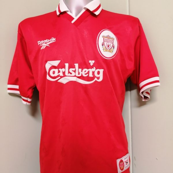 Vintage Liverpool 1996 1997 1998 home shirt Reebok football top size M #13 (2)