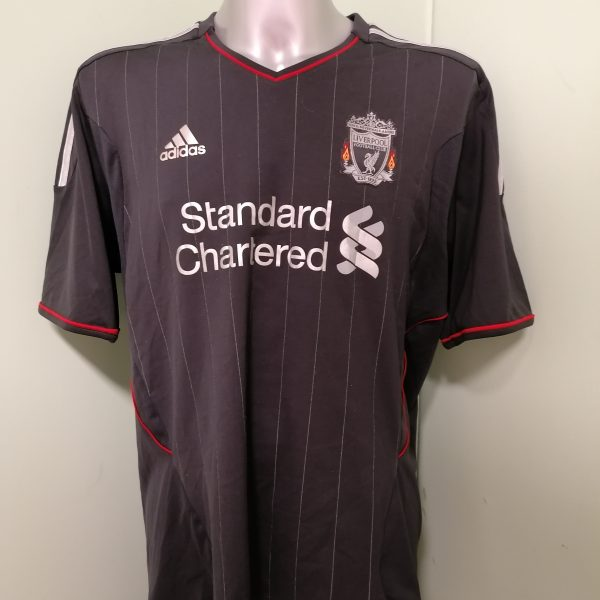 Vintage Liverpool 2011 2012 away shirt adidas football top size XL (3)