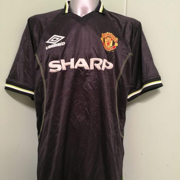 Vintage Manchester United 1998 1999 third shirt Umbro football top XL (1)