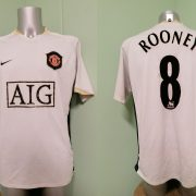Vintage Manchester United 2006 2007 away shirt Nike Rooney 8 jersey size L