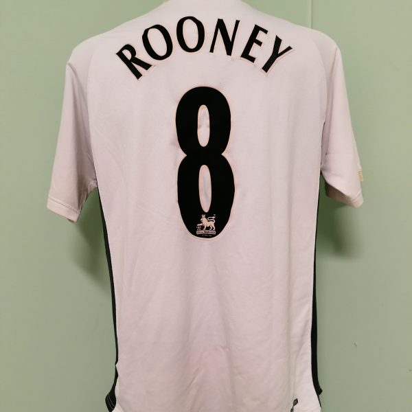Vintage Manchester United 2006 2007 away shirt Nike Rooney 8 jersey size L (4)