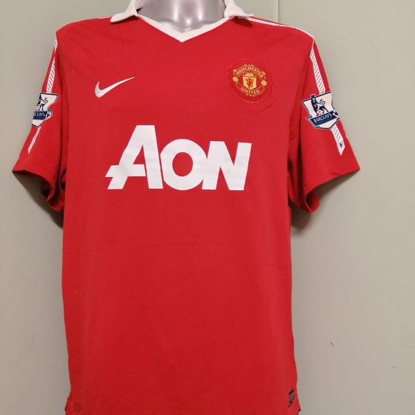 Vintage Manchester United 2010 2011 home Nike football shirt size XL (1)
