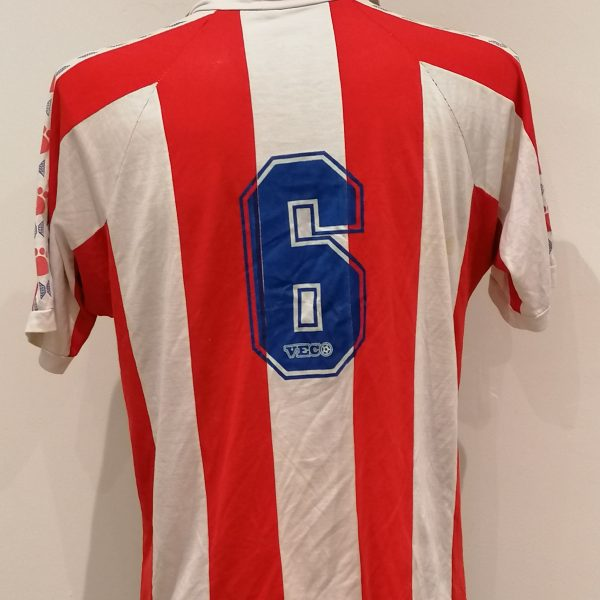 Vintage Paraguay ca. 1990 home shirt Veco football top #6 size L (2)