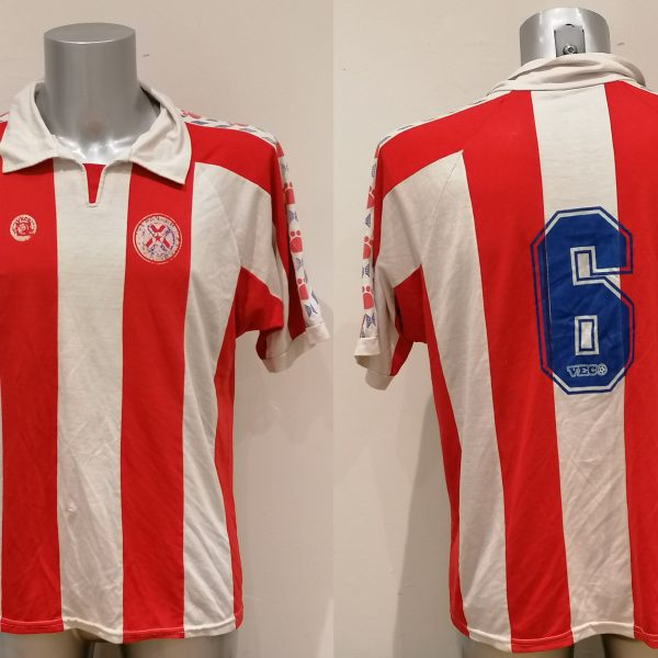 Vintage Paraguay ca. 1990 home shirt Veco football top #6 size L