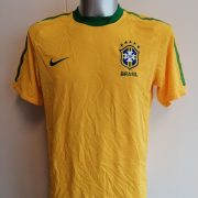 Brazil World Cup 2010 2011 home shirt Nike Brasil football top size M (1)