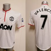 Manchester United 2012 2013 2014 away shirt Nike football top Valencia 7 size M