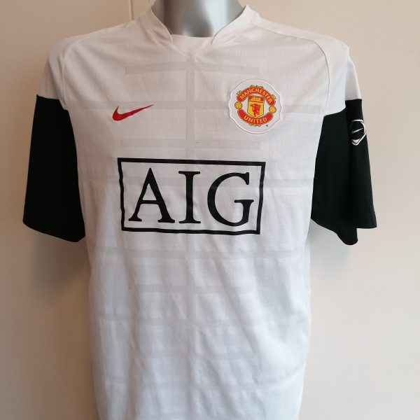Manchester United white training shirt Nike jersey top size L 355099-100 (1)