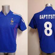 Vintage France World Cup 2002 2003 2004 home shirt adidas Baptitste 8 size S