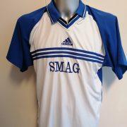 Vintage adidas 1990ies SV Union Salzgitter blue white football shirt #8 size XL (2)