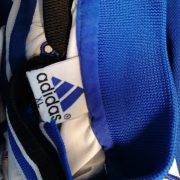 Vintage adidas 1990ies SV Union Salzgitter blue white football shirt #8 size XL (3)