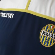 Hellas Verona training sweater blue Macron jumper size L (3)