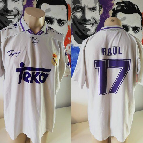 Real Madrid 1996 home shirt Taquy Raul 17 (3)