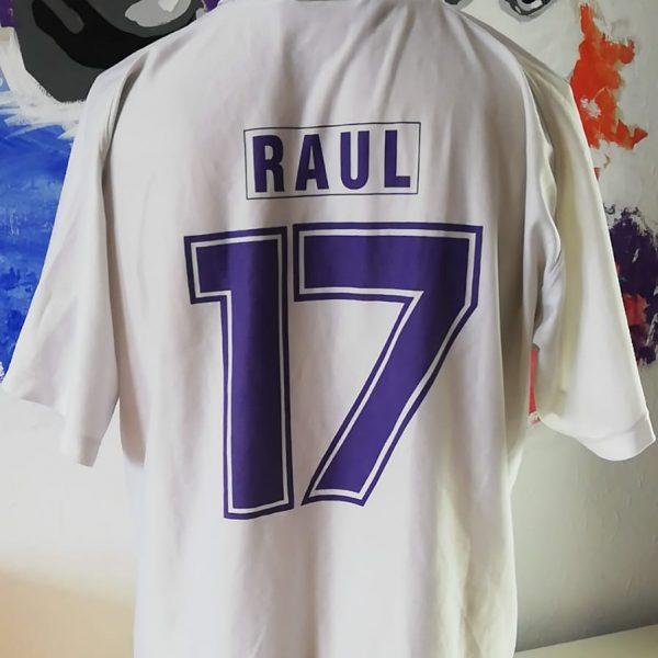 Real Madrid 1996 home shirt Taquy Raul 17 (7)