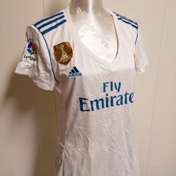 Real Madrid 2017 2018 LFP ladies home football shirt size L UK 1618 (1)
