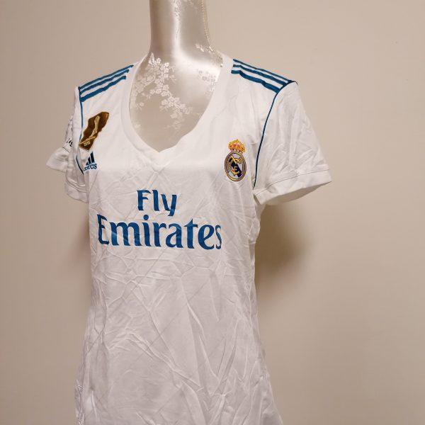 Real Madrid 2017 2018 LFP ladies home football shirt size L UK 1618 (2)