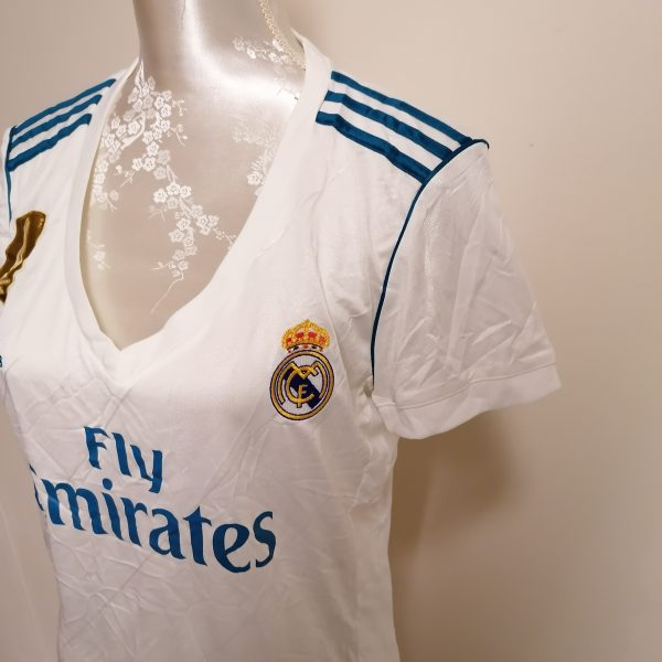 Real Madrid 2017 2018 LFP ladies home football shirt size L UK 1618 (7)