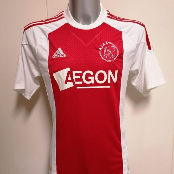 Vintage Ajax 2010 2011 home shirt adidas football top size S (1)