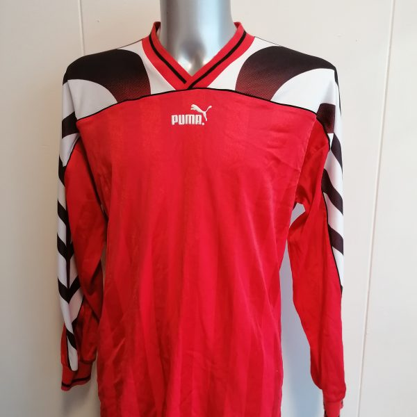 Vintage Puma 1980ies 90ies red football ls shirt size XL (2)