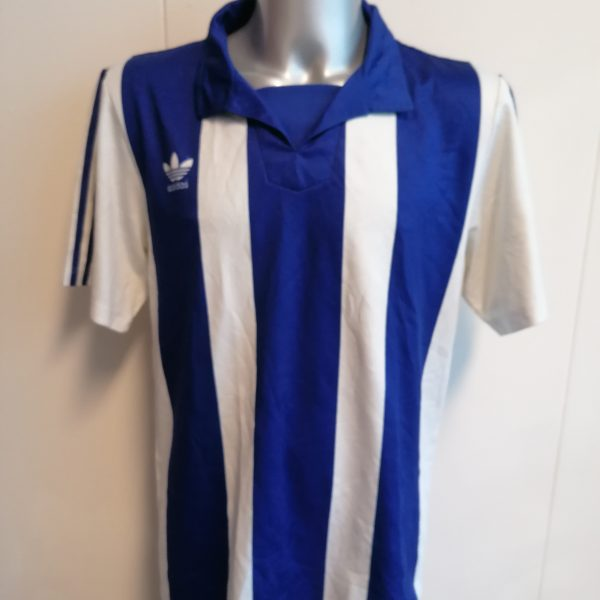 Vintage adidas 1992 1993 German Amateur shirt blue white #13 size L (1)