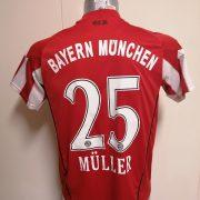 Bayern Munchen 2010 2011 home shirt adidas Muller 25 size Boys L 164 14Y (1)