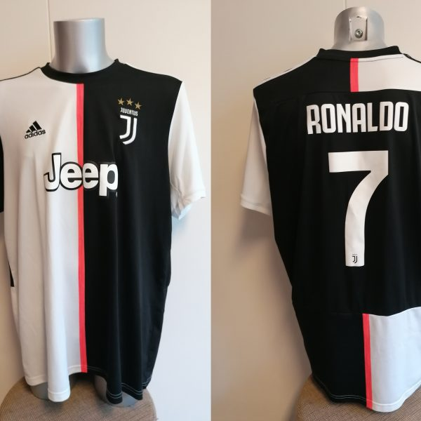 Juventus 2019 2020 home shirt adidas football top Ronaldo 7 size XXL (6)