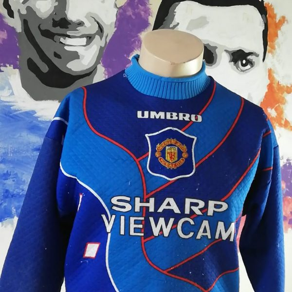 Manchester United 1996 1997 third GK padded shirt size Y (1)